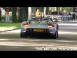 Porsche Carrera GT's revving and accelerating
