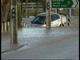 Asian Driver Sinks BMW in Flood