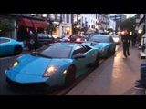 Turquoise Supercars (X3) Crusing Together!