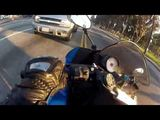 Motorcycle - Yellow Light Close Call
