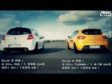 Drag race: Renault Clio 4 RS VS Renault Clio 3 RS