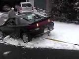 How to tow a car out of Snow