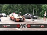 Ford Mustang vs Mercedes Benz CL65 AMG Evotech